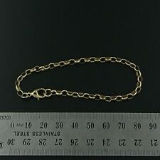 Brand New 9ct yellow gold bracelet - Handmade oval belcher with Cartier clasp