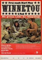 "DDR Progress Filmplakat Winnetou 2. Teil ""Pierre Brice, Lex Barker..."" Karl May"
