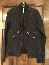 Versace Bomber Jacket Black Xs Small Medusa Logo Buttons