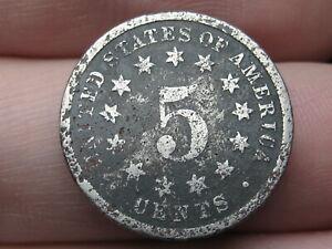1881 Shield Nickel 5 Cent Piece- Good/VG Details