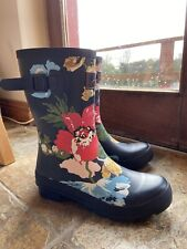Joules Molly Welly Navy Floral - UK 6
