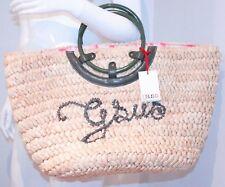 "GSUS SINDUSTRIES Picnic Bag 100% STRAW ""CHIHUAHUA"" Fairy Dust HAND BAG"