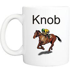 KNOB JOCKEY RUDE MUG funny novelty tea coffee gift womens mens office ideas xmas