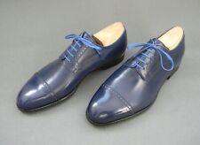 Mario Bemer Diego Blue Calf Leather Cap Toe Derby Mens Shoes 44EU 10UK 11US