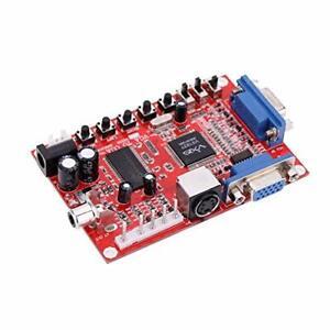 VGA TO CGA CVBS S-VIDEO CONVERTER PC to VGA GBS-8100 Video Game Converter Board
