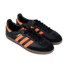 Adidas Samba Og Mens Black Leather Low Top Lace Up Sneakers Shoes