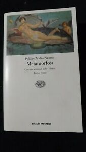 Publio Ovidio Nasone Le Metamorfosi  Testo latino a fronte  Einaudi, 1999
