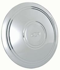 NEW, CHEVROLET POLICE WHEEL STAINLESS STEEL CENTER CAPS, WITH BOWTIE. SET OF 4