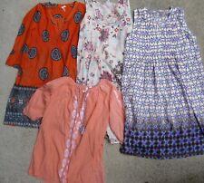 LOOBIES STORY dresses + tops x4  sz 10 silk cotton print embroidery LOOBIE'S