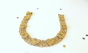 GOOD  QUALITY Ladies 9ct Yellow Gold Plate Bracelet