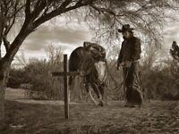 Praying Cowboy by Barry Hart Horse Prayer Pray Poster 26x32 WESTERN ART PRINT