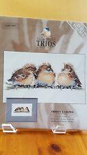 """""""Three's A Crowd"""" Trios by Valerie Pfeiffer & Heritage Stitchcraft, birds"""