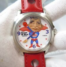 GEORGE W BUSH,Fighter, MEN'S CHARACTER WATCH,New In Box,R12-09