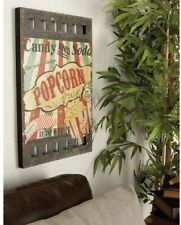 Retro Vintage Popcorn Sign Plaque Wall Art Panel ~ Old Fashioned Movie Nostalgia