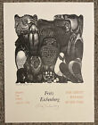 Fritz Eichenberg Vtg 1984 Exhibition Lithographic Poster Nightwatch 18X24 AS IS