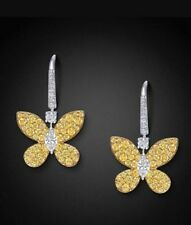 Solid 925 Sterling Silver Jewelry Beautiful Butter Fly Style Dangle Earring