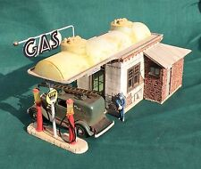 O/On30/On3 Scale TANKS GAS Station kit by RICH WHITE MODELS-Hydrocal parts only