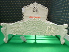 "BESPOKE Double 4'6""  Ivory French style designer Rococo Bed ....... Top Quality"
