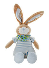 Blue Bunny Rabbit Stuffed Animal Teddy Soft Toy for Baby Boy Gift