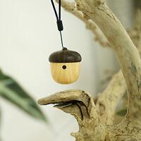 Wireless Cute Wood-Grain Nut Shape Rechargeable  Mini Bluetooth Speaker