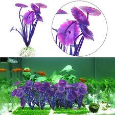 3X Aquatic Plastic Grass Plants Aquarium Fish Tank Ornament Decor Purple^