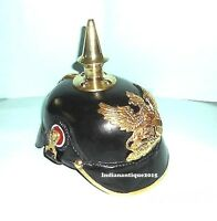 Imperial Viking Saxon German Officer Helmet Black & Gold Colored