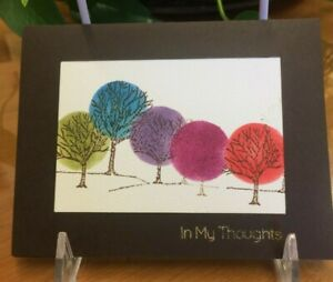 'In My Thoughts' Painted Forest: handmade greeting card