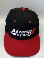 Advance Auto Parts Black Red Adjustable Adult Baseball Cap Hat Snap-back PDQ Vtg
