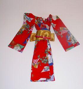 """Mint 10"""" KIMONO ~ Barbie, Takara Jenny, Francie ~ Red & Gold"""