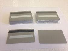 50 Silver CR80 PVC Cards HiCo MagStripe 2 Track w/ Signature Panel - ID Printers