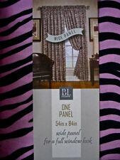 Zebra Stripe Window Panelsx2  Pink Black PAIR BL Home 108x84 Jungle Safari NEW