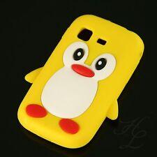 Samsung Galaxy Pocket S5300 Soft Silikon Case Schutz Hülle Etui Pinguin Gelb 3D