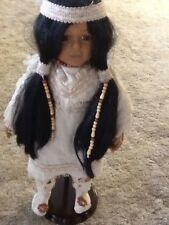"""Brinns 1995 Collectable Edition18"""" Indian Doll with stand"""