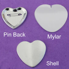 Great Button Maker Parts Heart Shape Pin Back Button Parts Diy