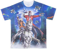 Marvel Comics Guardians Of The Galaxy Sublimated Cast Men's T Shirt S-2XL