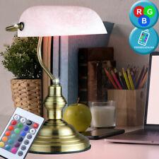 RGB LED Banquier Lampe Bureau Vieux Laiton de Table Changeur Couleur