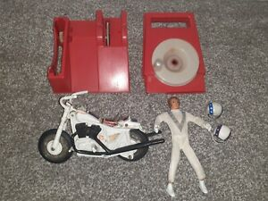 EVEL evil KNIEVEL STUNT CYCLE IN ORIGINAL BOX BY IDEAL 1973