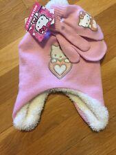 37f5b4d01 Hello kitty Winter Hat Set Nwt Osfm. Gloves Mittens Girls