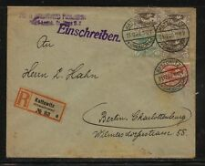 Upper  Silesia    17,28, 21 on registered cover  from Kattowitz      MS1224
