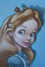 Alice In Wonderland Canvas Print 16� x 24� - Just Look At Those Eyes - Stunning!