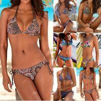 Women Brazilian Bikini Set Swimwear Halter Padded Swimsuit Beach Bathing Suit