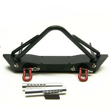 Steel Front Bumper Bull Bar w/ Shackles For 1/10 Scale Axial SCX10 RC Crawler US