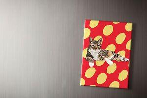 Cute Tabby Cat Fridge Magnet | Leslie Gerry, Refrigerator, 6.5cm x 9cm