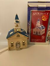 Snow village Porcelain Lighted House Christmas