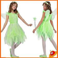 Costume Carnevale Ragazza Bambina Trilli Fata Boschi Verde  Tg 7-12 anni