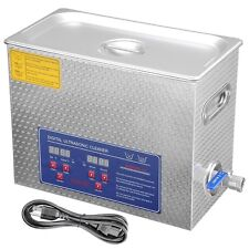 New Stainless Steel 6 L Liter Industry Heated Ultrasonic Cleaner Heater w/Timer
