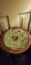 Vintage 17' Long Gold Mercury Glass Bead Feather Christmas Tree Garland