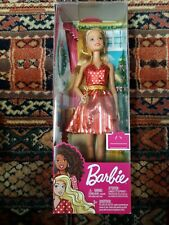 Barbie Christmas Holiday Doll Fashion Dress Purse Shoes Blonde Hair Distress Box