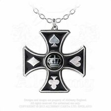 Alchemy England gotico punk peltro ciondolo collana catena SHARP's Cross