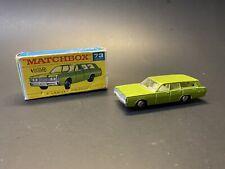 Vintage Matchbox Lesney No. 73 1968 Green Mercury Station Wagon with Box